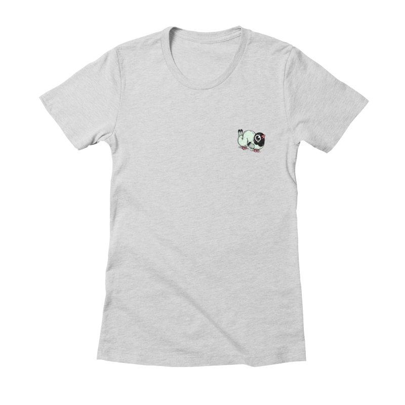 Pigeon gang Women's Fitted T-Shirt by twei's Artist Shop