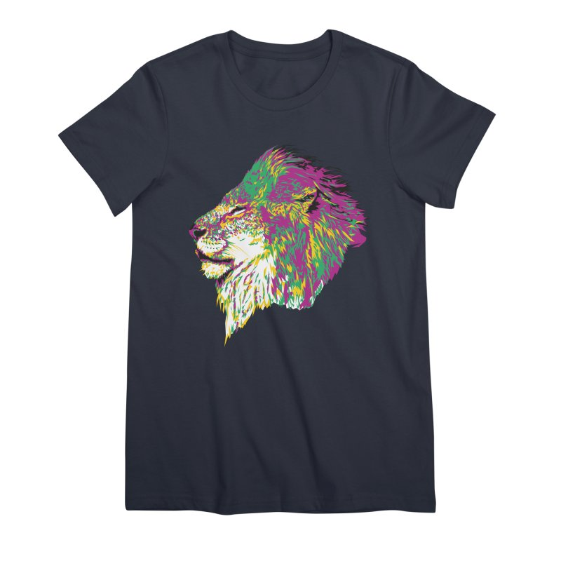 Zoological Appreciation Series: Lion Women's Premium T-Shirt by Twelve45 Store