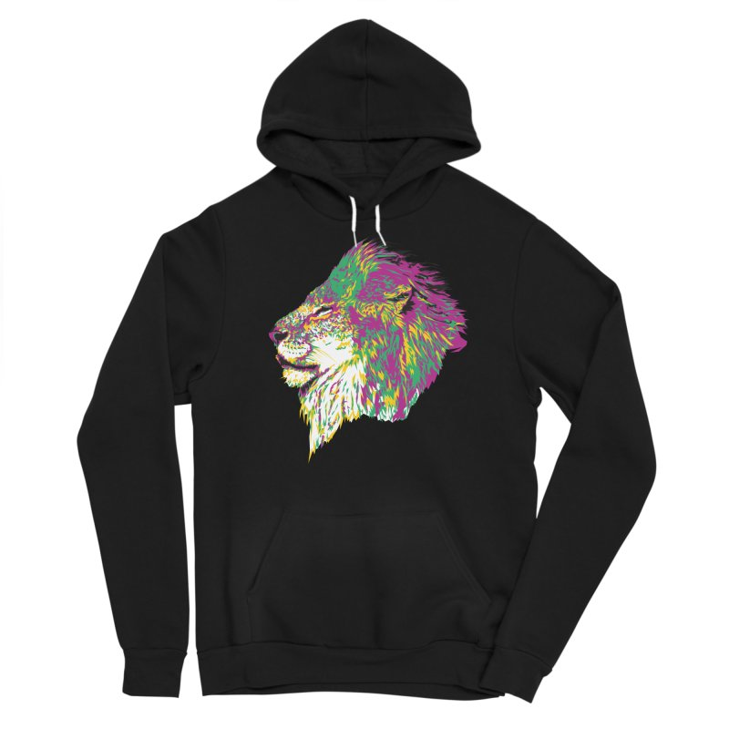 Zoological Appreciation Series: Lion Men's Pullover Hoody by Twelve45 Store