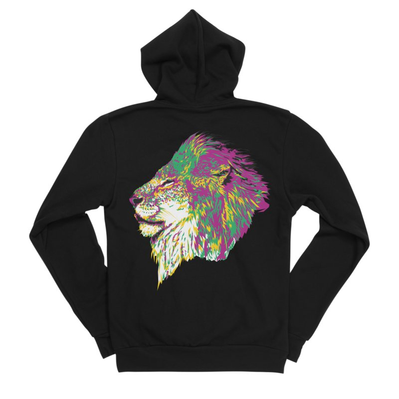 Zoological Appreciation Series: Lion Men's Zip-Up Hoody by Twelve45 Store