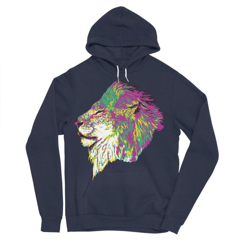 Zoological Appreciation Series: Lion Women's Sponge Fleece Pullover Hoody by Twelve45 Store
