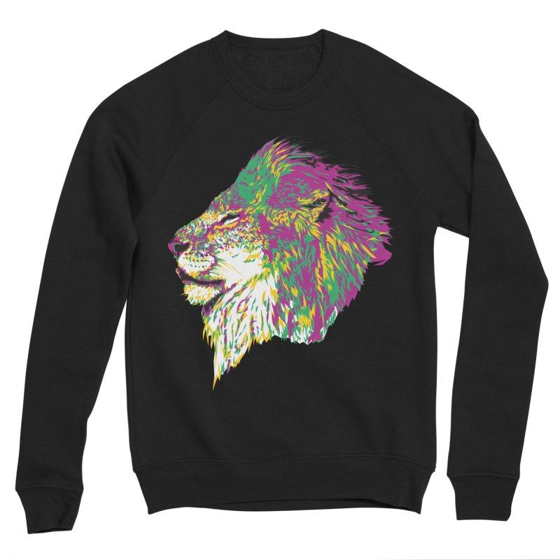 Zoological Appreciation Series: Lion Men's Sponge Fleece Sweatshirt by Twelve45 Store