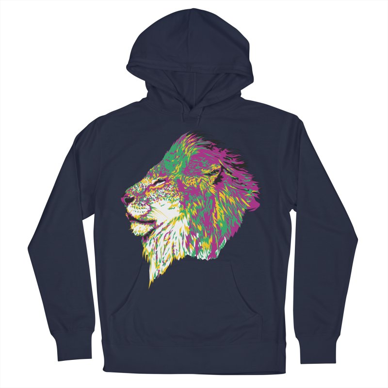 Zoological Appreciation Series: Lion Women's French Terry Pullover Hoody by Twelve45 Store