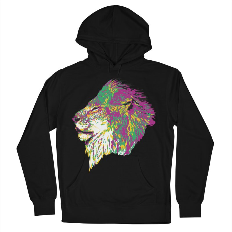 Zoological Appreciation Series: Lion Men's French Terry Pullover Hoody by Twelve45 Store