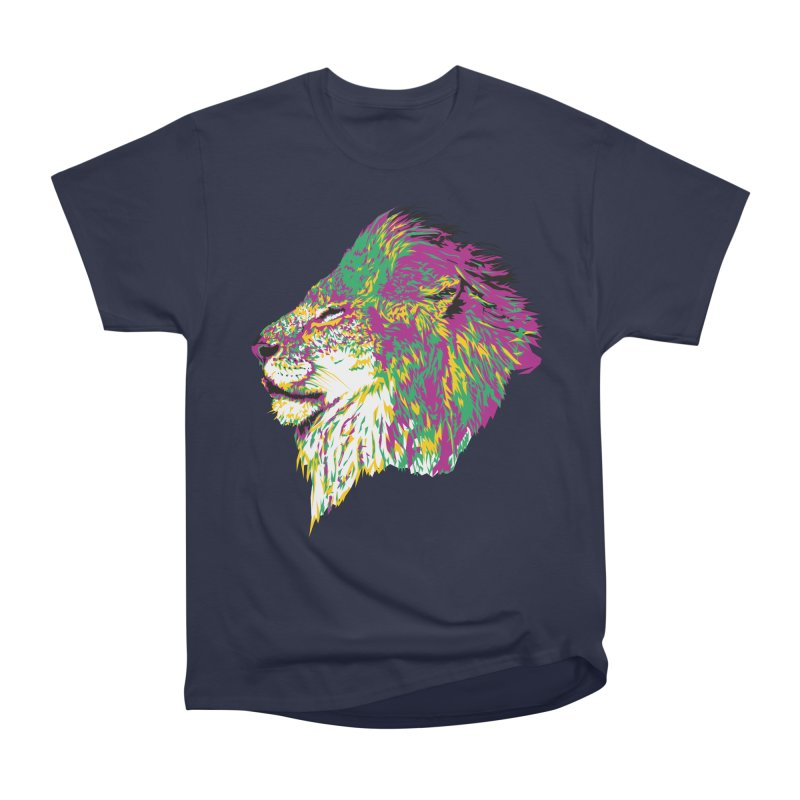 Zoological Appreciation Series: Lion Men's Heavyweight T-Shirt by Twelve45 Store