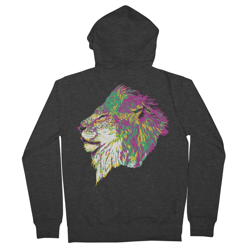 Zoological Appreciation Series: Lion Women's French Terry Zip-Up Hoody by Twelve45 Store