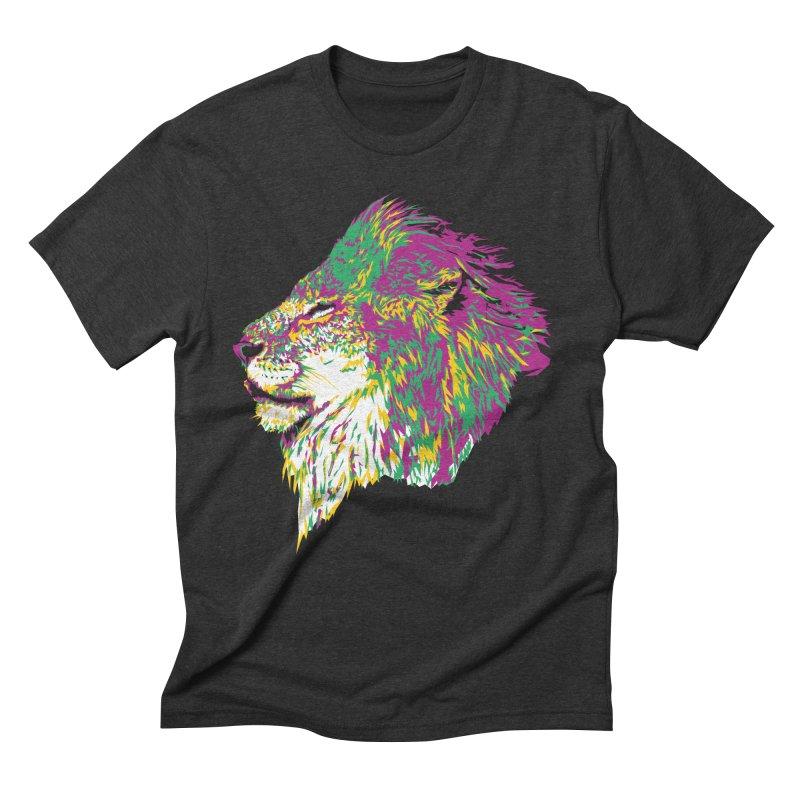 Zoological Appreciation Series: Lion Men's Triblend T-Shirt by Twelve45 Store