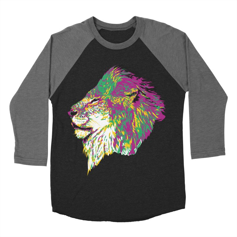 Zoological Appreciation Series: Lion Men's Baseball Triblend Longsleeve T-Shirt by Twelve45 Store