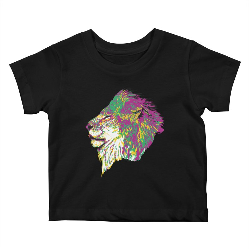 Zoological Appreciation Series: Lion Kids Baby T-Shirt by Twelve45 Store