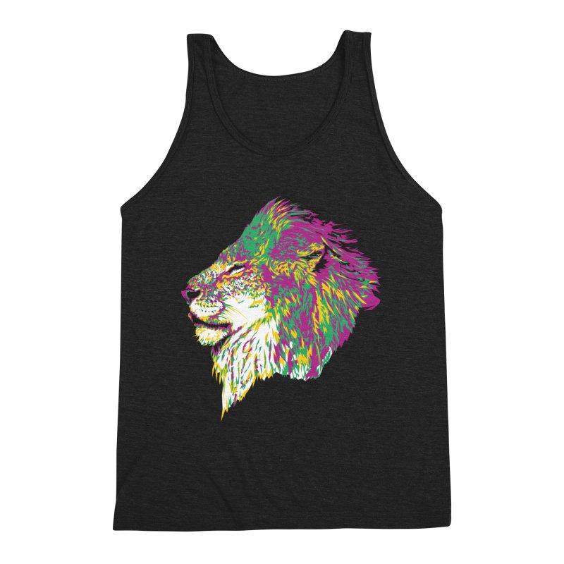 Zoological Appreciation Series: Lion Men's Triblend Tank by Twelve45 Store