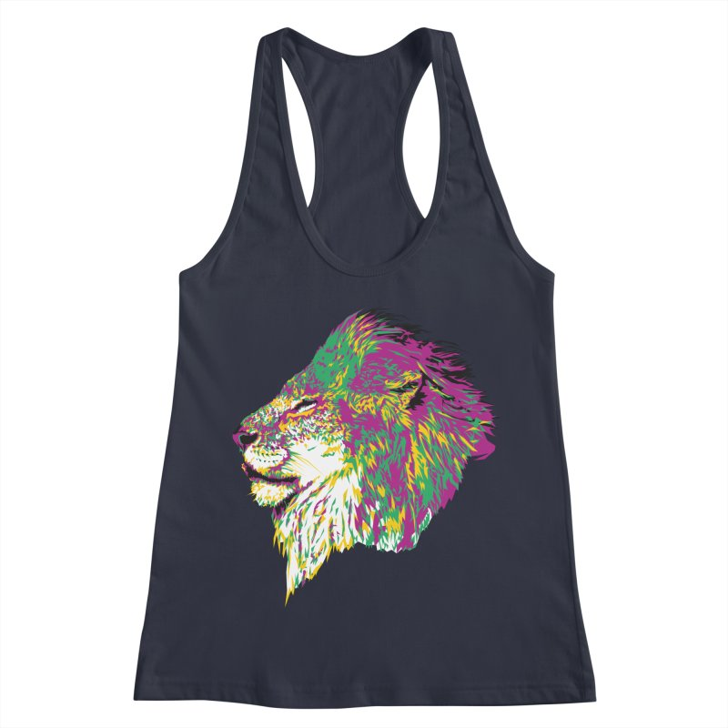 Zoological Appreciation Series: Lion Women's Racerback Tank by Twelve45 Store