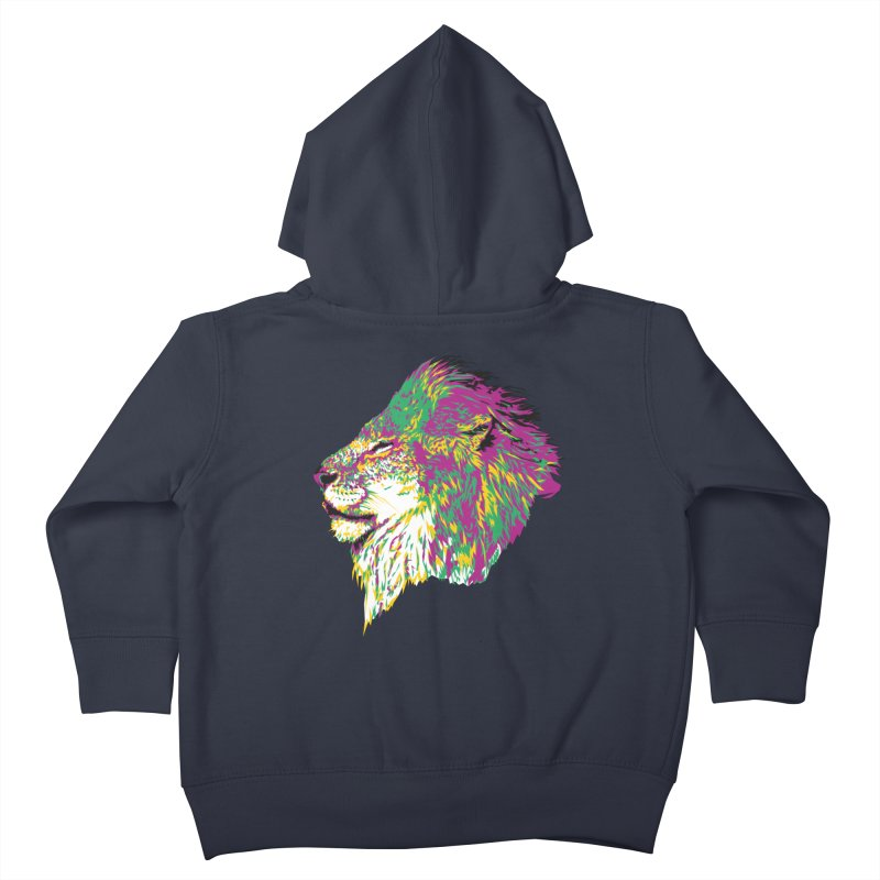 Zoological Appreciation Series: Lion Kids Toddler Zip-Up Hoody by Twelve45 Store