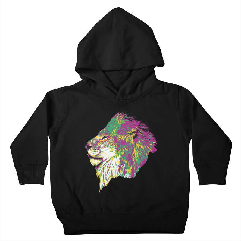 Zoological Appreciation Series: Lion Kids Toddler Pullover Hoody by Twelve45 Store