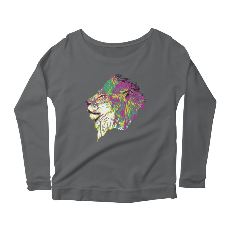 Zoological Appreciation Series: Lion Women's Scoop Neck Longsleeve T-Shirt by Twelve45 Store