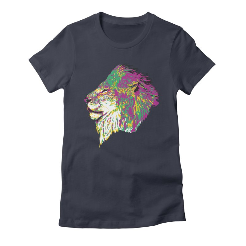 Zoological Appreciation Series: Lion Women's Fitted T-Shirt by Twelve45 Store