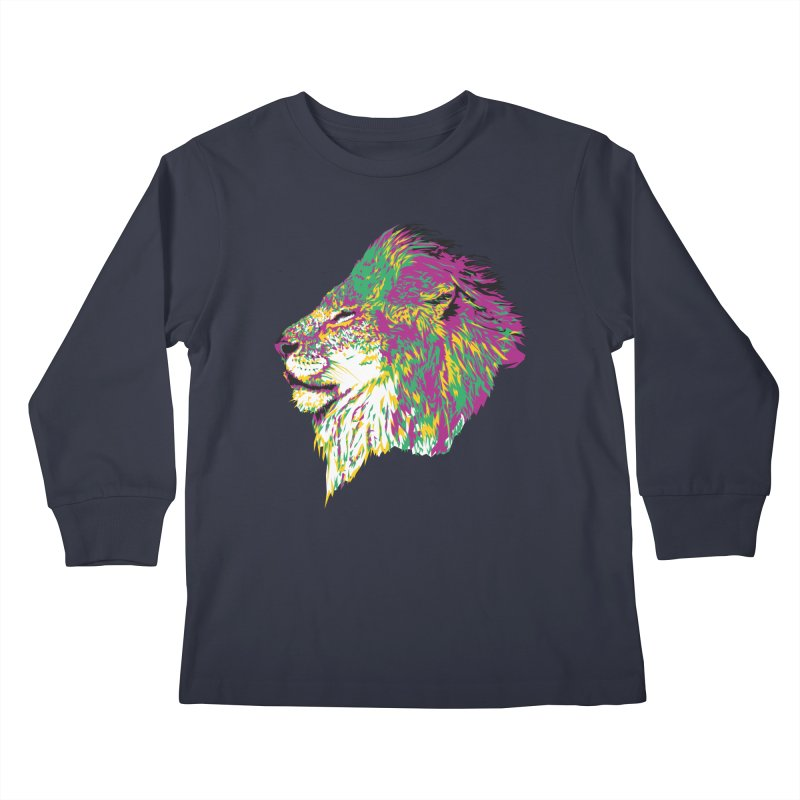Zoological Appreciation Series: Lion Kids Longsleeve T-Shirt by Twelve45 Store