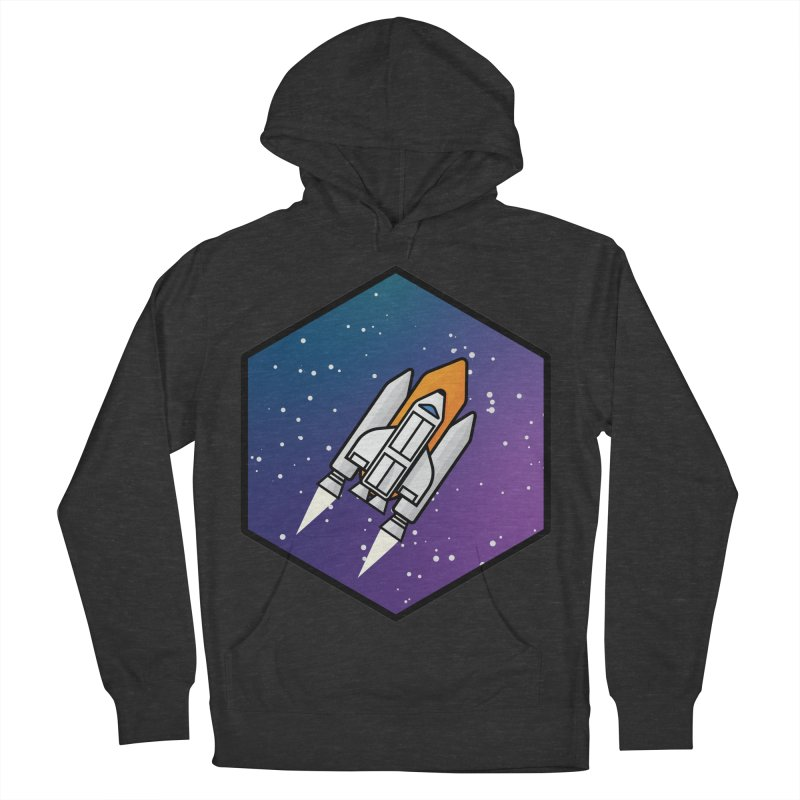 Space rocket Men's French Terry Pullover Hoody by Twelve45 Store