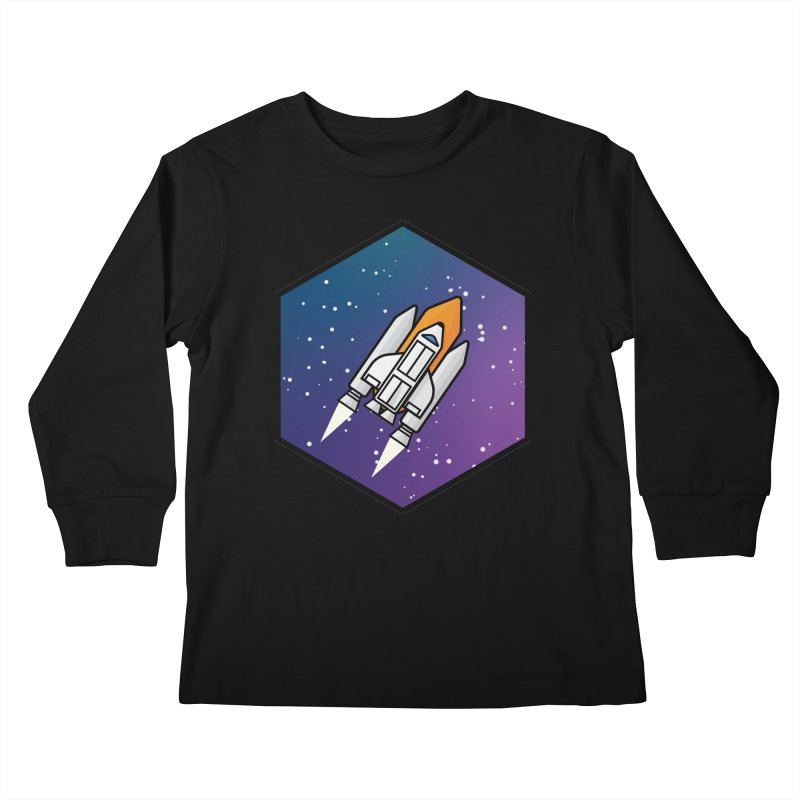 Space rocket Kids Longsleeve T-Shirt by Twelve45 Store