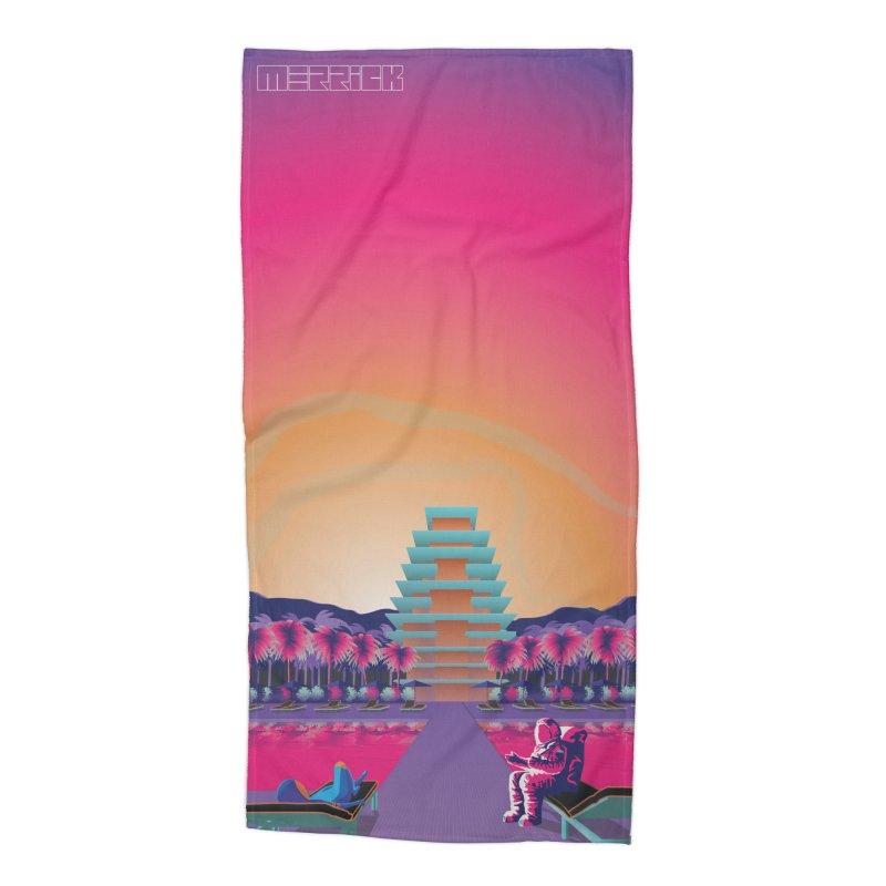 Space hotel Accessories Beach Towel by Twelve45 Store