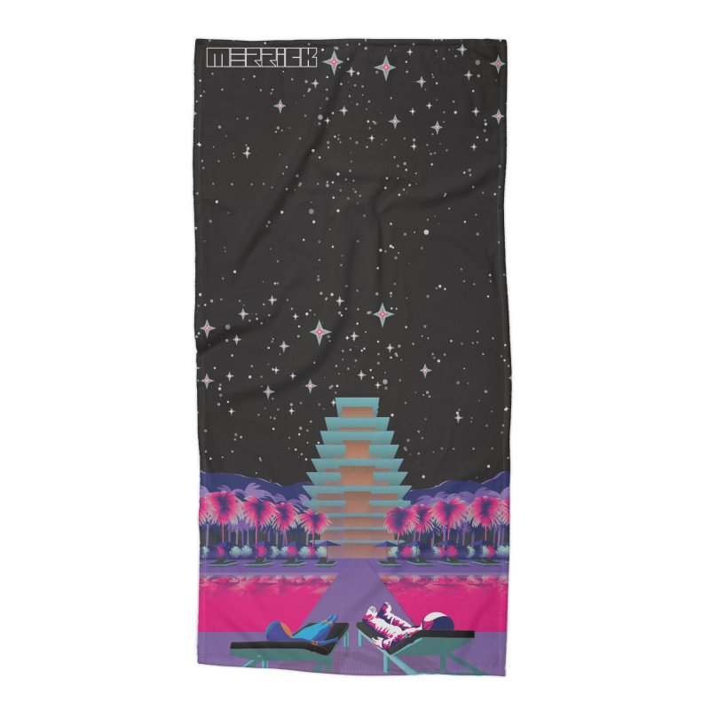 Laid Back Life Remix Accessories Beach Towel by Twelve45 Store