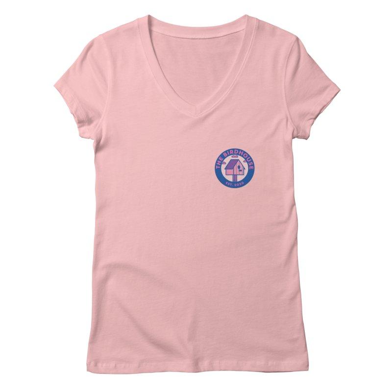 The Birdhouse Emblem Women's V-Neck by Twelve45 Store