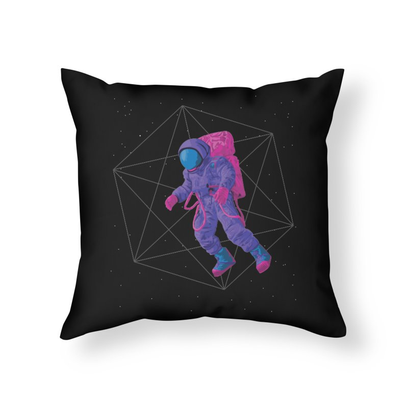 Space walking astronaut Home Throw Pillow by Twelve45 Store