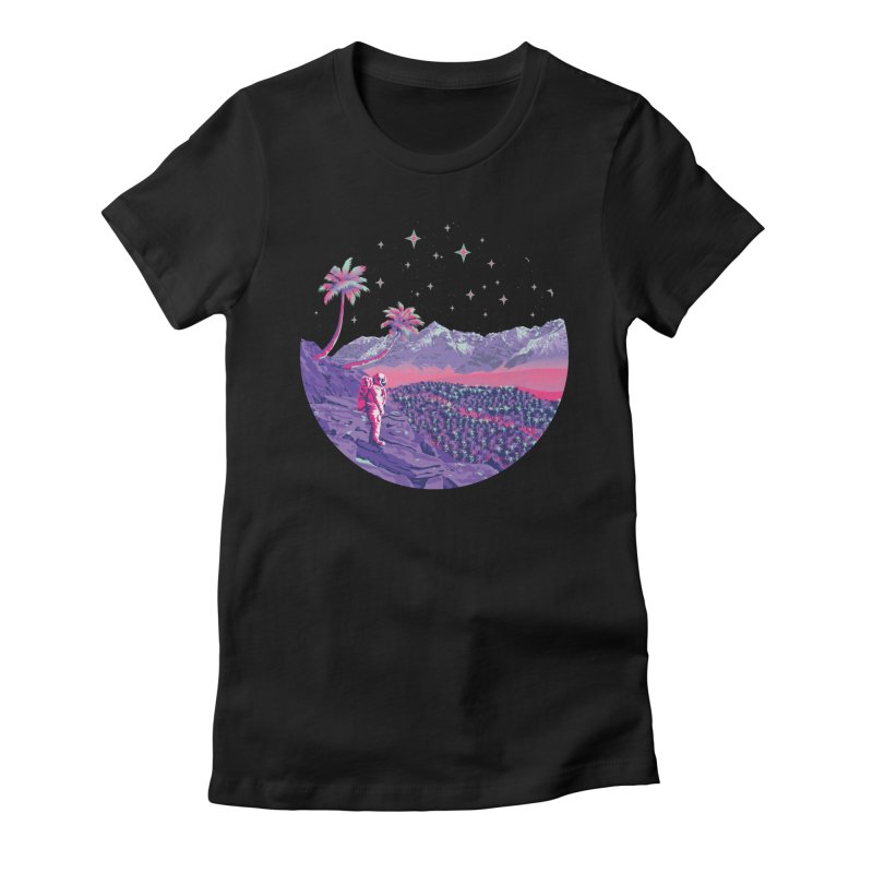 Alone: Astronaut Women's Fitted T-Shirt by Twelve45 Store