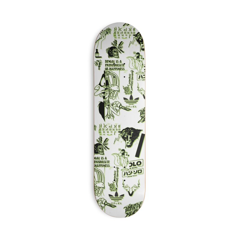DENIAL IS A PREREQUISITE OF HAPPINESS Accessories Skateboard by twentydeck