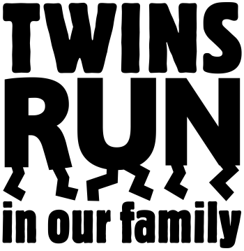 TWINS RUN in our family Logo