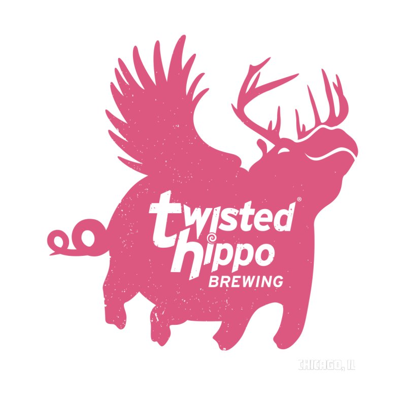 Twisted Hippo Brewing Women's Zip-Up Hoody by Twisted Hippo Brewing