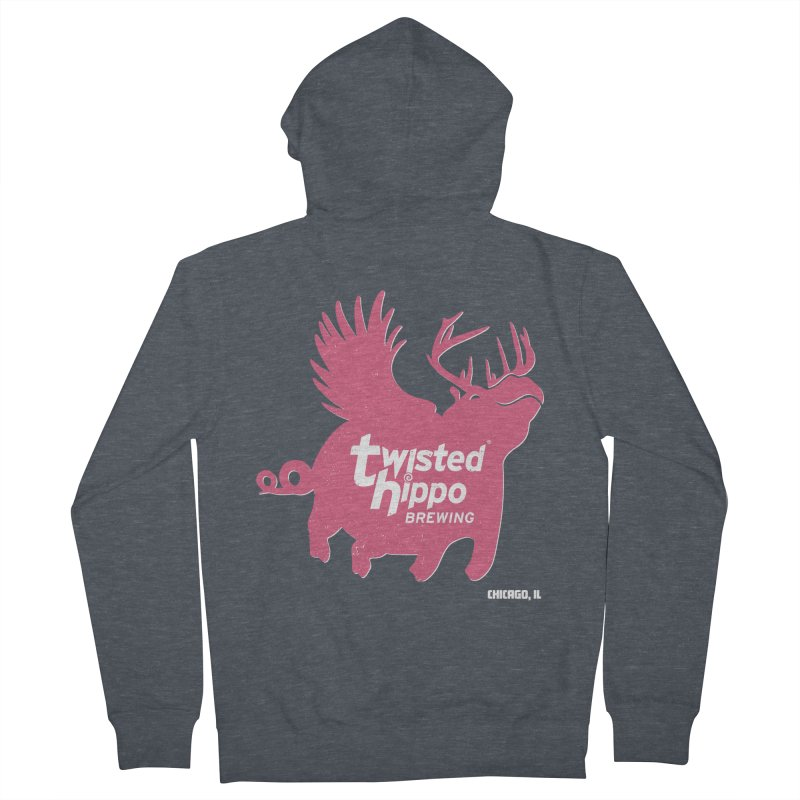 Twisted Hippo Brewing Men's French Terry Zip-Up Hoody by Twisted Hippo Brewing