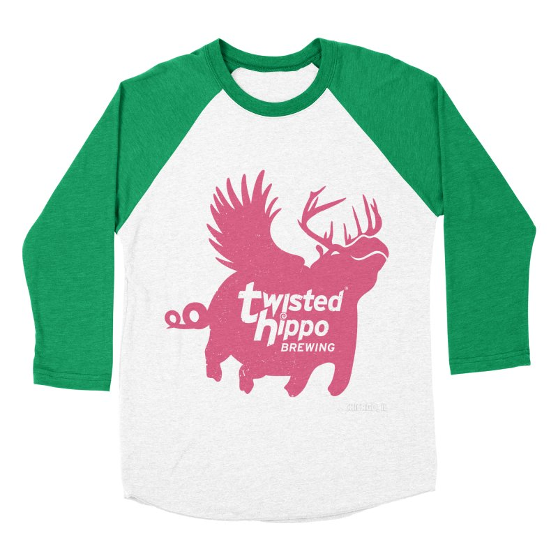 Twisted Hippo Brewing Women's Baseball Triblend Longsleeve T-Shirt by Twisted Hippo Brewing