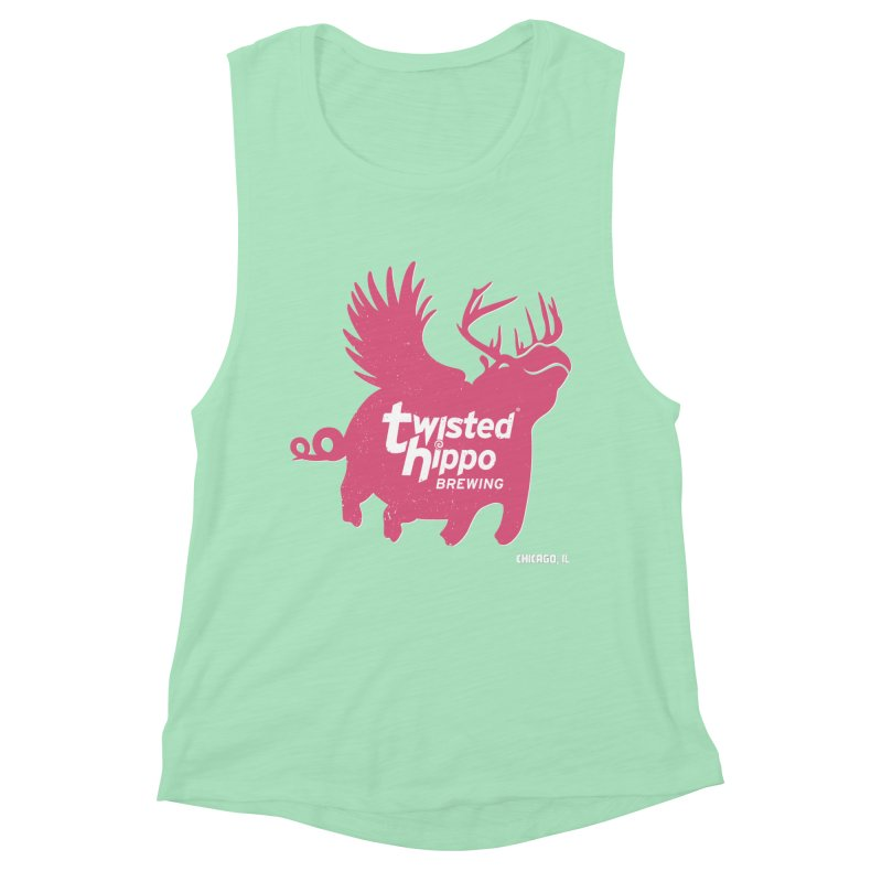 Twisted Hippo Brewing Women's Muscle Tank by Twisted Hippo Brewing