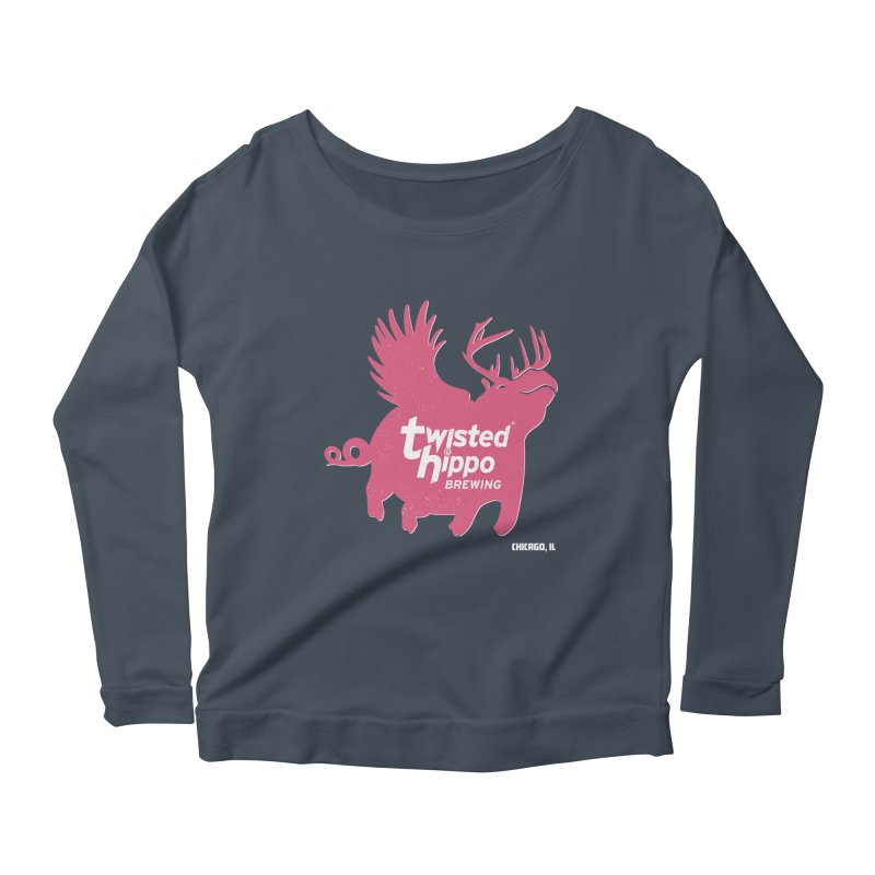 Twisted Hippo Brewing Women's Scoop Neck Longsleeve T-Shirt by Twisted Hippo Brewing