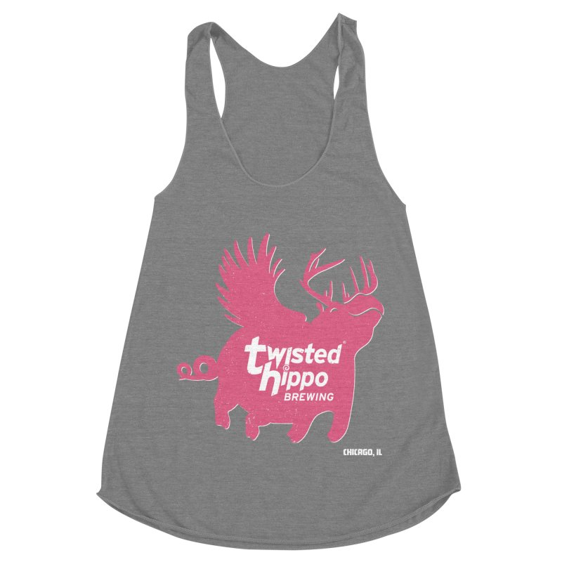 Twisted Hippo Brewing Women's Racerback Triblend Tank by Twisted Hippo Brewing