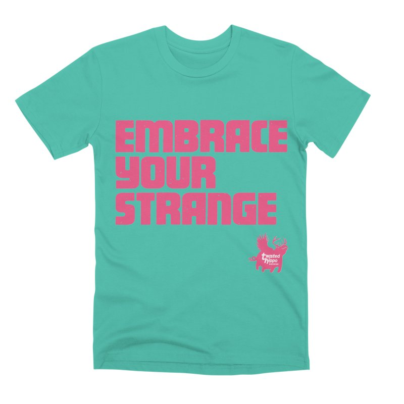 Embrace Your Strange (block) Men's T-Shirt by Twisted Hippo Brewing