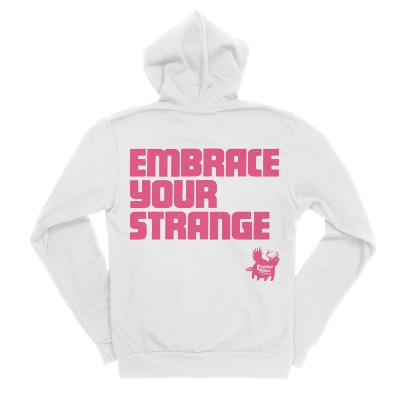 Embrace Your Strange (block) Men's Zip-Up Hoody by Twisted Hippo Brewing