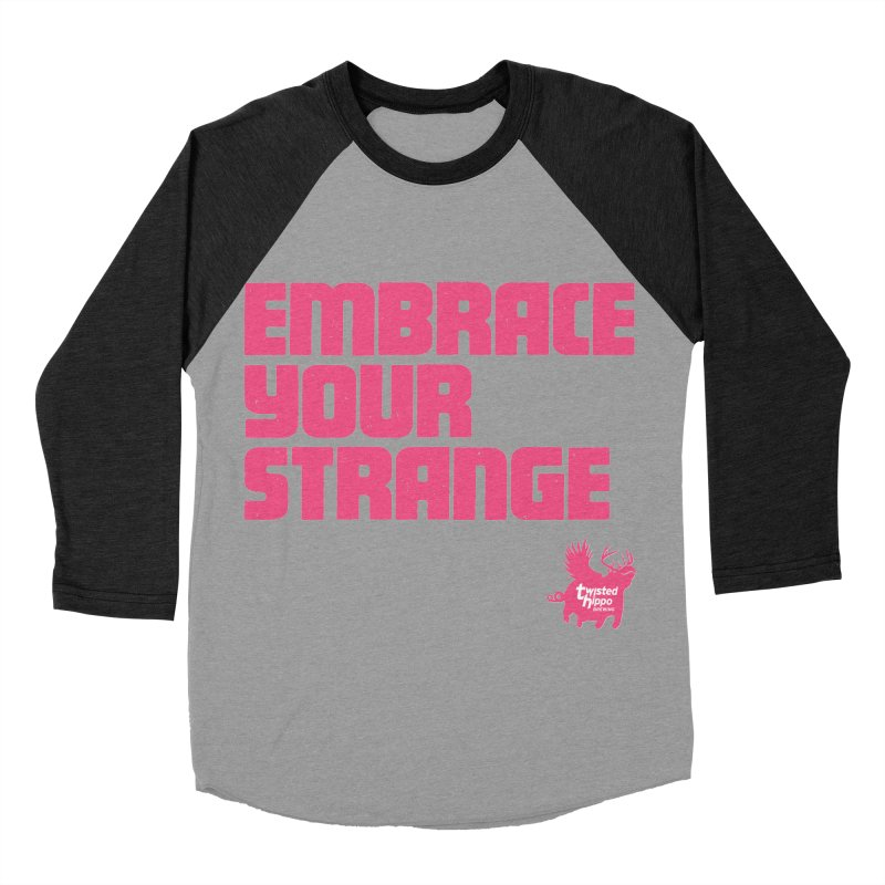 Embrace Your Strange (block) Women's Baseball Triblend Longsleeve T-Shirt by Twisted Hippo Brewing
