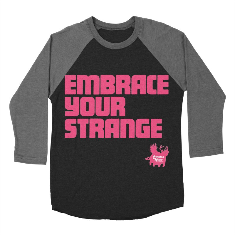 Embrace Your Strange (block) Men's Baseball Triblend Longsleeve T-Shirt by Twisted Hippo Brewing