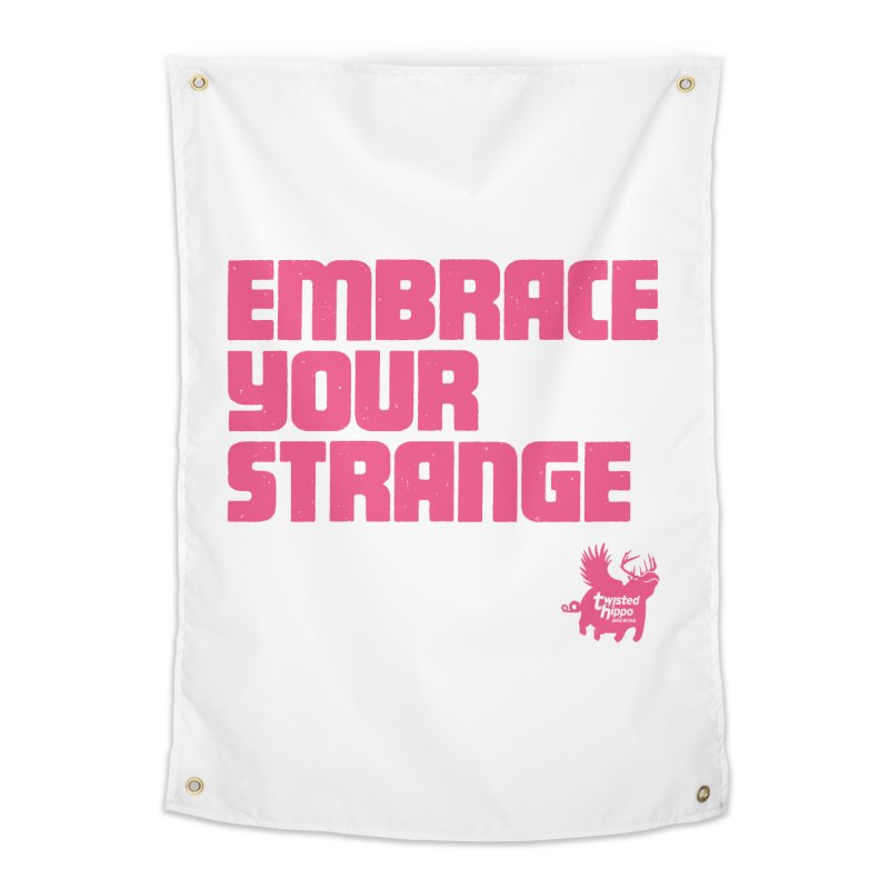 Embrace Your Strange (block) Home Tapestry by Twisted Hippo Brewing