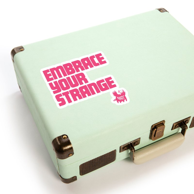 Embrace Your Strange (block) Accessories Sticker by Twisted Hippo Brewing