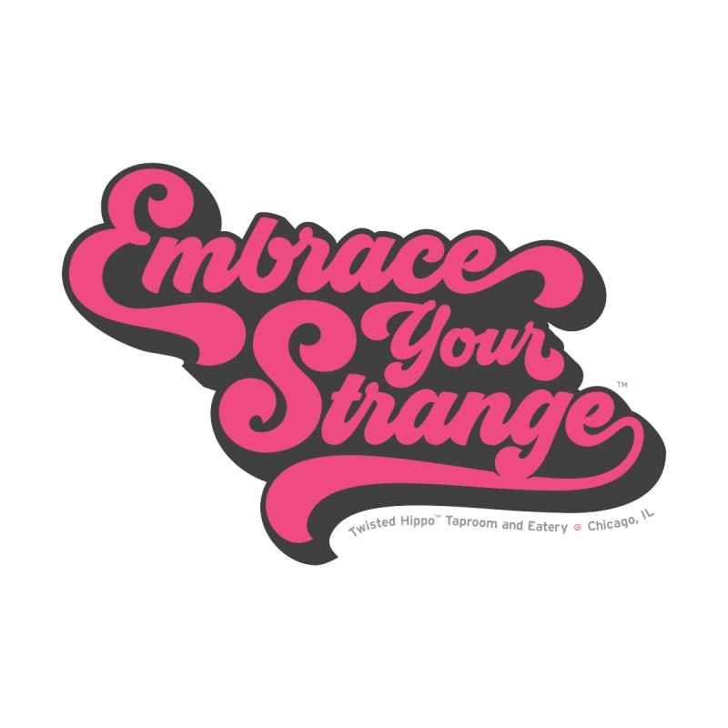 Embrace Your Strange (vintage) Men's Zip-Up Hoody by Twisted Hippo Brewing