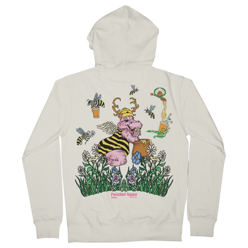 The Bee's Sleaze Women's French Terry Zip-Up Hoody by Twisted Hippo Brewing