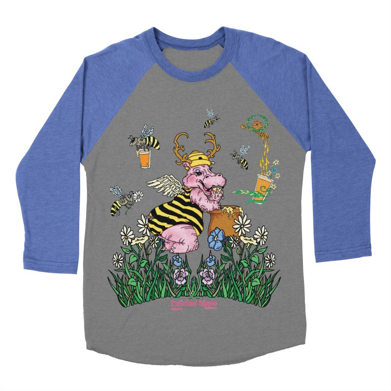 The Bee's Sleaze Women's Baseball Triblend Longsleeve T-Shirt by Twisted Hippo Brewing