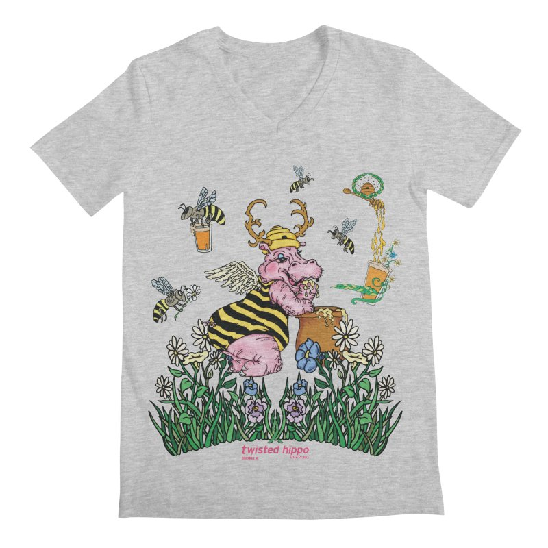 The Bee's Sleaze Men's V-Neck by Twisted Hippo Brewing