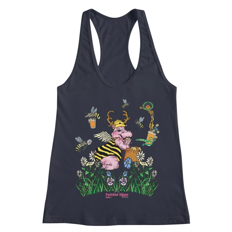 The Bee's Sleaze Women's Racerback Tank by Twisted Hippo Brewing