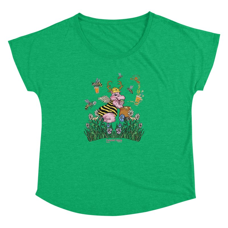 The Bee's Sleaze Women's Dolman Scoop Neck by Twisted Hippo Brewing