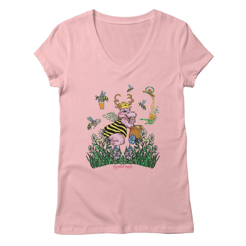 The Bee's Sleaze Women's Regular V-Neck by Twisted Hippo Brewing