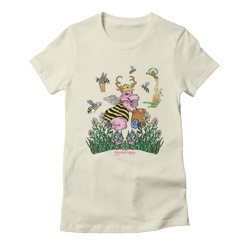 The Bee's Sleaze Women's Fitted T-Shirt by Twisted Hippo Brewing
