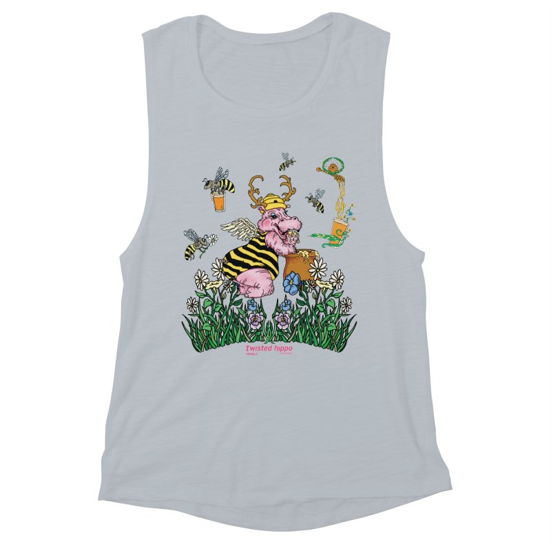 The Bee's Sleaze Women's Muscle Tank by Twisted Hippo Brewing